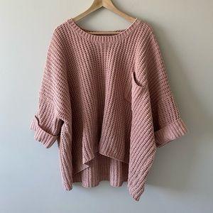 POL Oversized Chenille Pullover